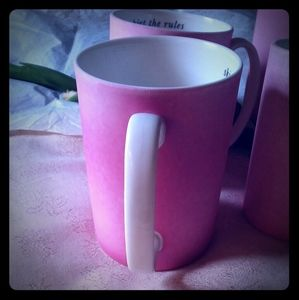 """kate spade Kitchen - Kate Spade for Lenox """"skirt the rules"""" Pink Mugs"""